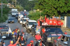 La caravana recorrió las calles de San Felipe