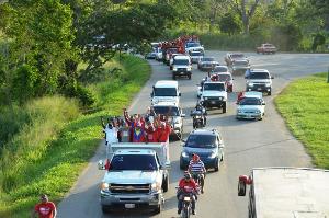 Caravana de la victoria en Veroes