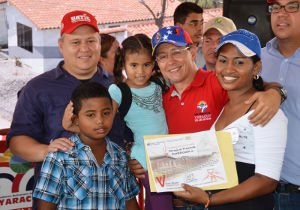 El Gobernador Julio León en compañía del Ministro del Poder Popular