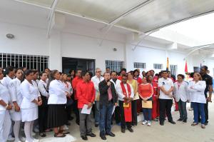 Gobernador asistió a la misa en honor a la Virgen Santa Catalina