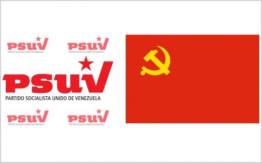 Logos PSUV-PCCH