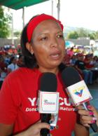 Ana Álvarez representante de la UBCH de la Escuela Barlovento