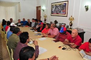 Gobernador, Alcaldes y dirigencia del PSUV fijan posición