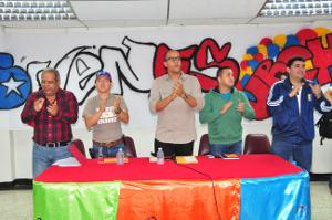 Autoridades nacionales y regionales recibieron a los jóvenes