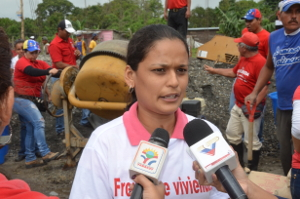 Daneivis Sira beneficiaria de la comunidad La Tambora