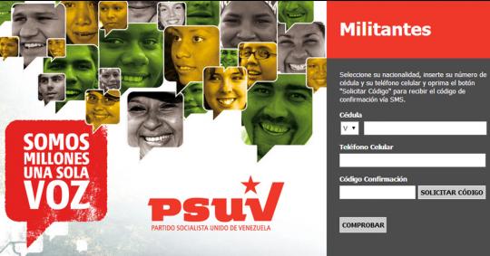 Registro y actualización de militantes