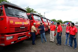 38 unidades entre camiones Kamaz y maquinaria pesada