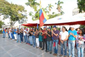 Los 46 delegados del Jpsuv, fueron abanderados