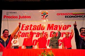 INSTALAN EL ESTADO MAYOR CIVICO MILITAR CONTRA LA GUERRA ECONOMICA