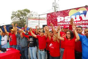 Leon presento a los precandidatos y precandidatas del PSUV