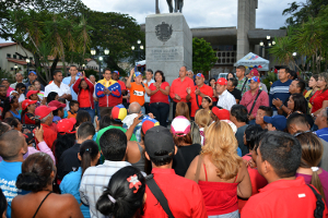 Los líderes revolucionarios celebraron junto al pueblo yaracuyano